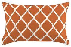 Accent Pillow-Olivia Orange Trellis 24X16 - Main
