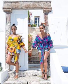 "195 Likes, 2 Comments - Le Monde Du Wax (@lemondeduwax) on Instagram: ""MOODOFTHEDAY #holidays #summer #mood #sea #greece #africanprintslovers #fashion #blogger #twins…"""