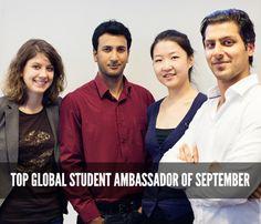 Top Global Student Ambassador of the Month - September