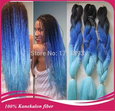 "STOCK! Top quality 20"" 100% kanekalon x pression jumbo braid ombre synthetic braiding hair free shipping-in Hair Weaves from Health & Beauty on Aliexpress.com 