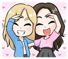 Pinky Pinky Girl will fulfill your chat room with LOVE! Cute Best Friend Drawings, Bff Drawings, Cute Kawaii Drawings, Drawings Of Friends, Easy Drawings, Best Friend Sketches, Pinky Girls, Bff Girls, Pinky Pinky