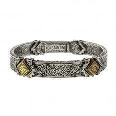 Konstantino Sterling Silver & 18k Gold Men's Bracelet