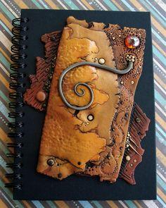 Journal Notebook Handmade Polymer Clay Art Cover. $45.00, via Etsy.