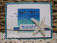 Giddy Stamper: Seaside Starfish ~ HSS269, FabFri117