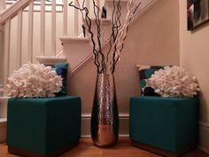 18 DIY Vase Flower Ideas For Beautiful Living Room Decoration Ideas – Decor & Gardening Ideas Pottery Barn, Living Room Designs, Living Room Decor, Bedroom Decor, Large Floor Vase, Big Vases, Large Vases, Gold Vases, White Vases