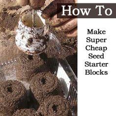 How To Make Super Cheap Seed Starter Blocks