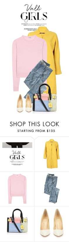 """Color Mix"" by monmondefou ❤ liked on Polyvore featuring Miu Miu, Wrap, Kurt Geiger, Christian Louboutin, women's clothing, women, female, woman, misses and juniors"