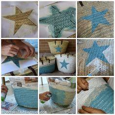 Basket Diy Straw 25 Ideas For 2019 Ibiza, Diy Straw, Painted Baskets, Diy Clutch, Tote Bags Handmade, Jute Bags, Boho Bags, Diy For Kids, Diy Clothes
