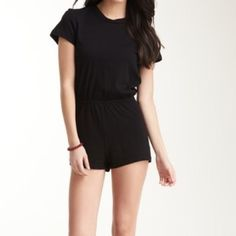 AA Black T-Shirt Romper Perfect condition, true to size. Very comfortable American Apparel Pants Jumpsuits & Rompers