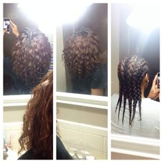 This is a braid out I did on my relaxed hair using Cantu Shea-butter leave in conditioner