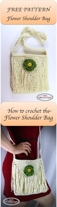 FREE PATTERN: Flower Shoulder Bag