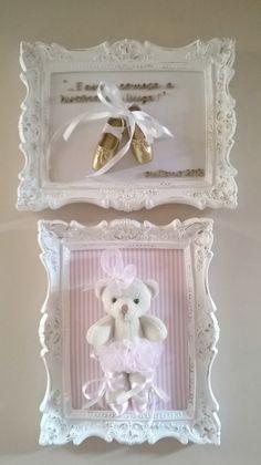 Baby Frame, Baby Keepsake, Do It Yourself Crafts, Frame Crafts, Baby Room Decor, Handmade Home Decor, Girl Nursery, Diy Gifts, Diy And Crafts