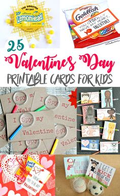 25 FREE DIY Valentine's Day Printable Cards for Kids - Both candy & non-candy options!