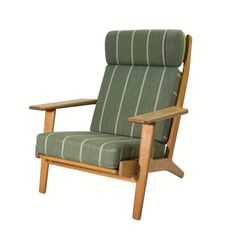 ef0ac898bf38 Hans Wegner Lounge Chair with original upholstery. MidMod Decor