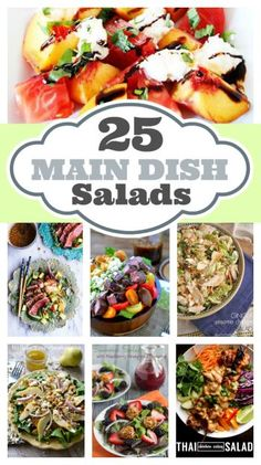 25 Main Dish Salads - healthy meal recipes for dinner with lots of flavor
