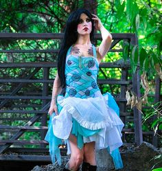 Twisted Alice Dress by PatchedJester - Steampunk Steampunk Clothing - Smoked Glass Goggles