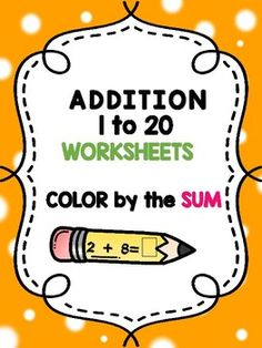 Color by the Sum - Addition 1 to 20 CCSS.MATH.CONTENT.2.OA.B.2Color by the Sum - Addition Worksheets This product includes 10 fun worksheets that ask the students to solve each addition problem, and then color some of the crayons by the given code.The worksheets can be used as morning work, homework orreview for quiz or test .Happy teaching,Christian's Learning Center