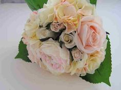 Bouquet of Cream and Pale Pink Artificial Roses and Hydrangeas £14.50