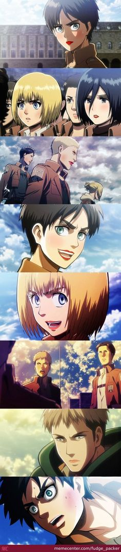 Attack on titan | funny. Come on, you have to admit, Armin looks pretty fabulous.: