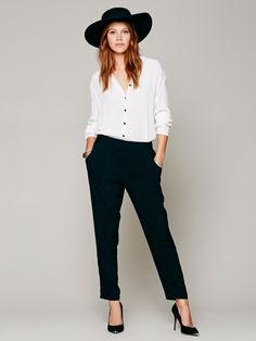 Free People Easy Pleat Pant, $78.00 love this outfit