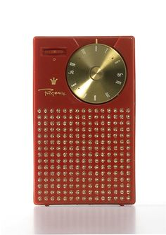 """Painter, Teague & Petertil, Transistor Radio, 1954-58. Regency Division, USA. """"The Regency TR-1 was the world's first pocket radio. Over 100,000 were sold during its first year of manufacture. The..."""