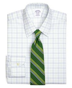 Supima Cotton Triple Tatersall Twill Luxury Dress Shirt