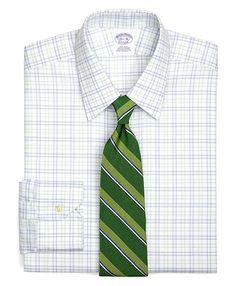 Supima Cotton Triple Tatersall Twill Luxury Dress Shirt
