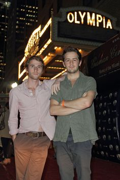 """Max Winkler (director), Michael Angarano (actor) at the screening of """"Ceremony"""" during MIFF 2011."""