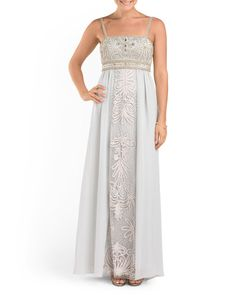 d540af34ff8 Long Embroidered Gown - Formal - T.J.Maxx