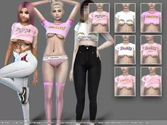 NitroPanic x Small Tee - The Sims 4 Download - SimsDom