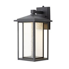 Home Decorators Collection Black Medium Outdoor Seeded Glass Dusk to Dawn Wall Lantern-KB 06005-DEL - The Home Depot