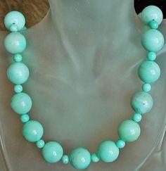 Light Blue Peru Amazonite Necklace  21 lg 53cm  by camexinc, $65.00