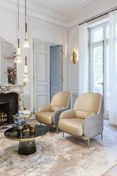 Beetley Armchair by Jaine Hayon for Sé | Apartment Saint Germain des Prés, Paris, by Gérard Faivre.