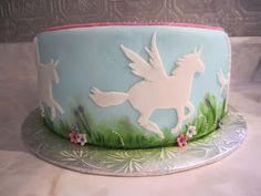 Cakes...Or Something Like That: Flying Unicorn Cake - Pegasus Cake