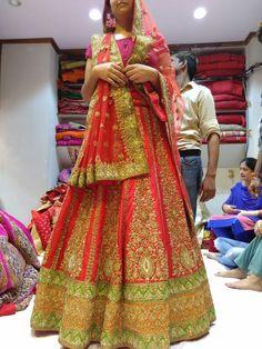 Bridal Lehenga kala Mandir chandni chowk, Zardoosi work