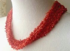 Crochet Necklace, Beaded Necklace, Collars, Accessories, Jewelry, Fashion, Coral Statement Necklaces, Big Necklaces, Faceted Crystal