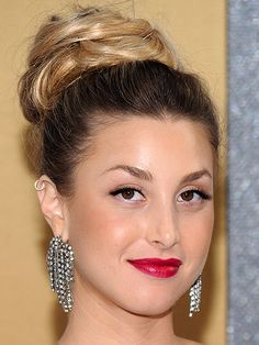 Whitney Port does the best buns - casual or glam