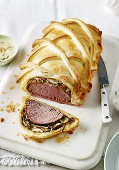 Mary Berry's beef Wellington is a little lighter than normal, served with a lovely tarragon sauce.