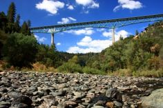 Foresthill Bridge, CA--highest cantilever bridge in the US-- 730'--I've driven over it many times.