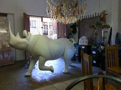 Thanks to eThekwini Community Foundation, US Consulate (Durban) and the Wildlands Trust, we are going to be decorating another rhino to raise awareness of rhino poaching.With a team made up of: Local Street Crafters; Room 13; Truro Special Needs School; Info4Africa/Ubunye Co-Op; Sydenham Resource Centre; Ukhamba Craft and Umcebo Design, we will bring together the best of KwaZulu Natal Art, Craft and Design to decorate the blank 3/4 life size rhino. Umcebo Design (Facebook)…
