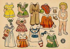 muñecas recortables, paper dolls,