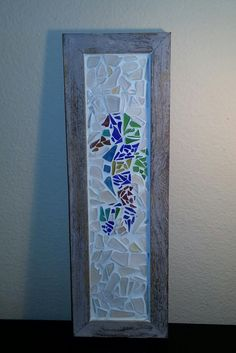 Sea glass sea horse mosiac abstract by ParadiseSeaGlass on Etsy, $199.99