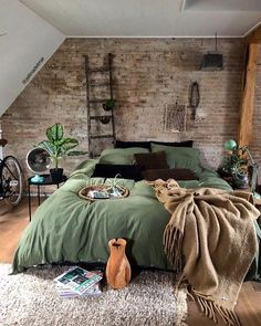 Rustic Boho Loft The decoration of home is similar to an exhibition space that reveals our tastes and design ideas and then we naturally . Home Decor Bedroom, Modern Bedroom, Bedroom Ideas, Contemporary Bedroom, Master Bedroom, Bedroom Colors, Nature Bedroom, Bedroom Designs, Bedroom Romantic