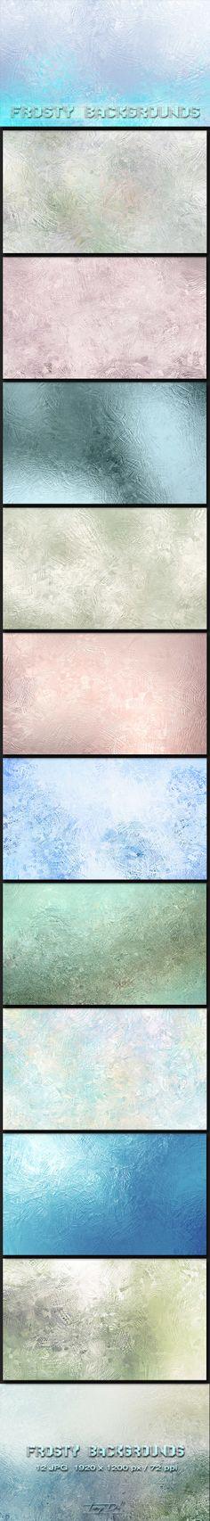 Frosty Backgrounds by TanyDi Tany Dimitrova, via Behance