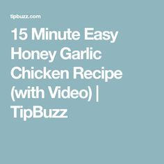 15 Minute Easy Honey Garlic Chicken Recipe (with Video) Easy Honey Garlic Chicken, Easy Chicken Stir Fry, Garlic Chicken Recipes, Stir Fry Recipes, Keto Recipes, Cooking Recipes, Healthy Recipes, Chicken And Vegetables, Slow Cooker Chicken