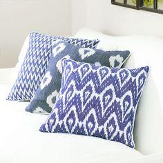 Diamond Indigo Ikat Pillow | Pillows & Cushions