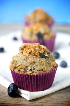 Trying out these gluten free blueberry muffing, chock full of blueberries, bananas and zucchini, this weekend    #glutenfree #blueberry #muffin