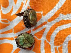 Vintage bohemian gypsy jade colored stone clip on by Mamaphias, $10.00