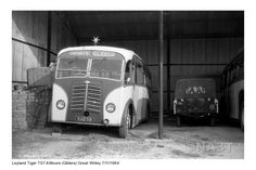 Displaying Central Garage_Great Witley_Arthur Moore & Sons_Leyland Tiger TS7 Burlingham reg KAB 59_7 Nov 1964_1.jpg