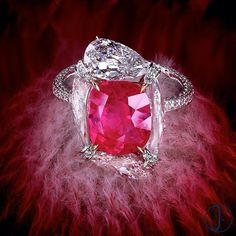 A 4.5carats Natural Burmese Ruby and Diamond Ring by FORMS #formsjewellery…